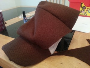 Sew bowl of hat onto existing cap