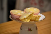 melting lemon cupcake
