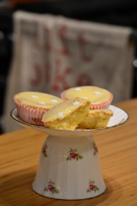 melting lemon cupcakes