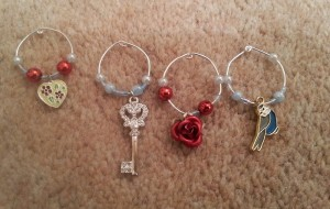 finished wine glass charms