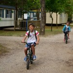 Cycling on the campsite