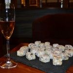 stollen bites and pink champagne