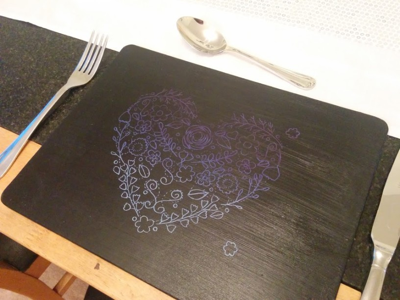 upcycled placemat