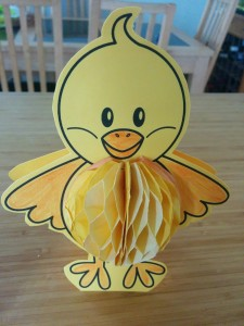 Chick honeycomb card