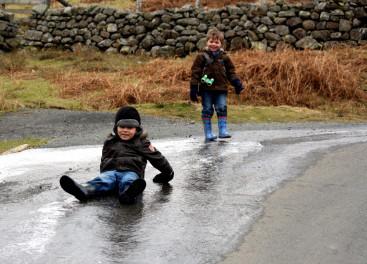 Ice Tobogganing 30th January 2011