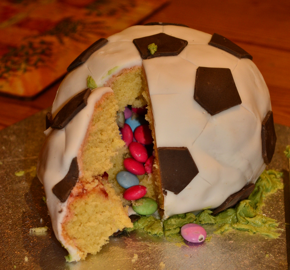 Football Cake With Surpise Smarties